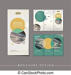 Diseño de diseño abstracto tri-pliego de diseño de plantilla