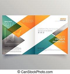 Diseño de diseño de folletos creativos