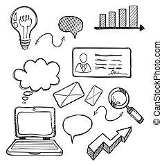 Diseño de diseño de negocios plano