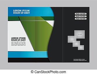Diseño de diseño de plantilla tri-pliego de folletos,