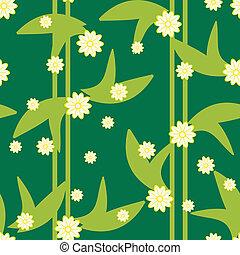 Diseño de diseño floral sin mancha con flores