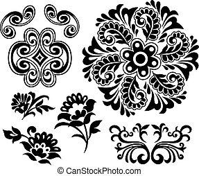 Diseño de elementos florales