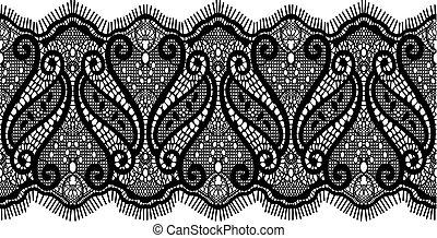 Diseño de encaje bordado