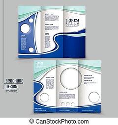 Diseño de estilo tecnológico para un folleto tri-pliego