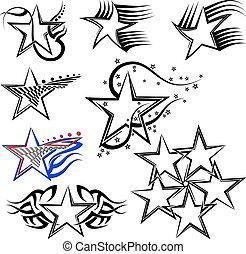 Diseño de estrellas de tatuajes