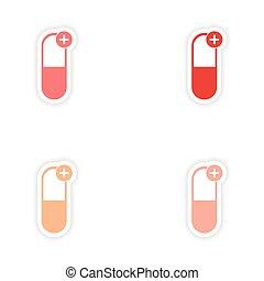 Diseño de etiquetas realistas en medicina para pastillas de papel