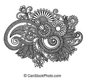 Diseño de flores decorativo