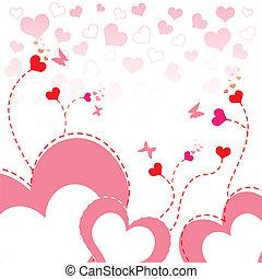 Diseño de flores del corazón
