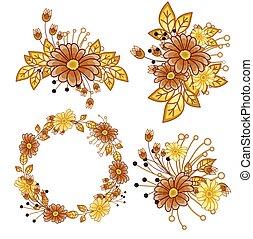 Diseño de flores elegantes