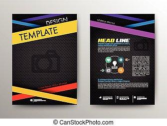 Diseño de folletos abstractos