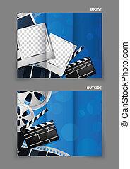 Diseño de folletos de cine