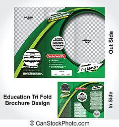 Diseño de folletos de educación