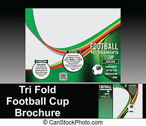 Diseño de folletos de fútbol