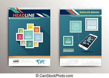 Diseño de folletos de vectores