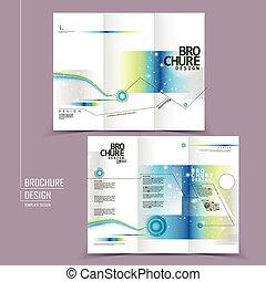 Diseño de folletos modernos de tri-platos