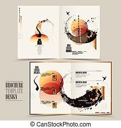 Diseño de folletos modernos
