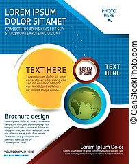 Diseño de folletos o presentación de negocios