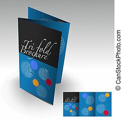 Diseño de folletos trillados