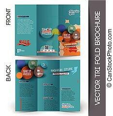 Diseño de folletos triple