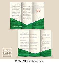Diseño de folletos triples con onda dinámica