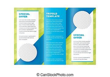 Diseño de folletos triplicados