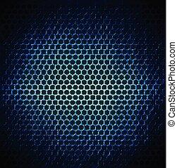 Diseño de fondo de metal de punta azul