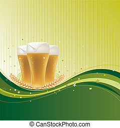 Diseño de fondo para cerveza