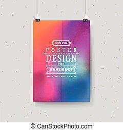 Diseño de fondo suave y colorido para el poster