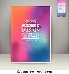 Diseño de fondo suave y colorido para la portada del libro