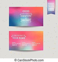 Diseño de fondo suave y colorido para tarjetas de visita