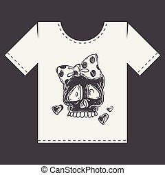 Diseño de huellas de camiseta