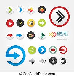 Diseño de iconos de Arrow puedo ser usado para gráficos / gráfico o sitio web vector de distribución