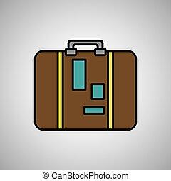 Diseño de iconos de equipaje, ilustración vectorial