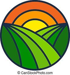 Diseño de iconos de la granja solar