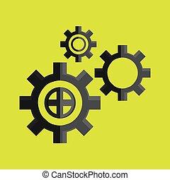 Diseño de iconos en marcha, ilustración vectorial