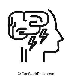 Diseño de ilustración de agotamiento mental