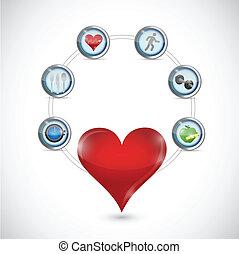 Diseño de ilustración de atención sanitaria