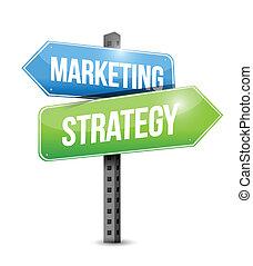 Diseño de ilustración de estrategias de mercado