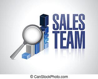Diseño de ilustración de gráficos del equipo de ventas