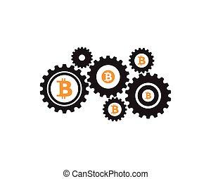 Diseño de ilustración de iconos Bitcoin