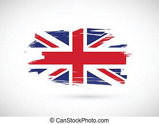 Diseño de ilustración de la bandera británica