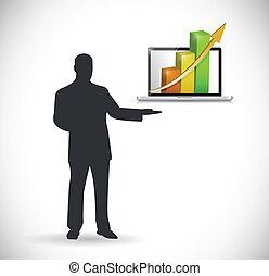 Diseño de ilustración de la presentación de negocios