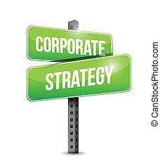 Diseño de ilustración de letreros de estrategia corporativa