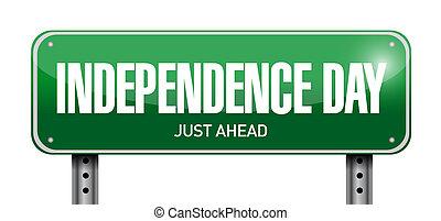 Diseño de ilustración de letreros de Independencia