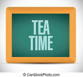 Diseño de ilustración de mensajes de té