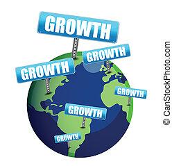 Diseño de ilustración del globo de crecimiento