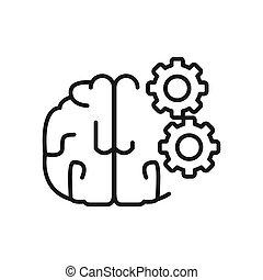 Diseño de ilustración del proceso cerebral