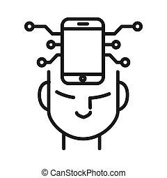 Diseño de ilustración móvil y conectado