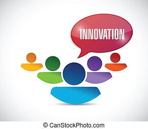 Diseño de ilustraciones del equipo de innovación