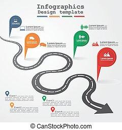 Diseño de información de carretera. Ilustración de vectores.